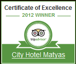 Certificate of Excellence - City Hotel Matyas Budapest 2012